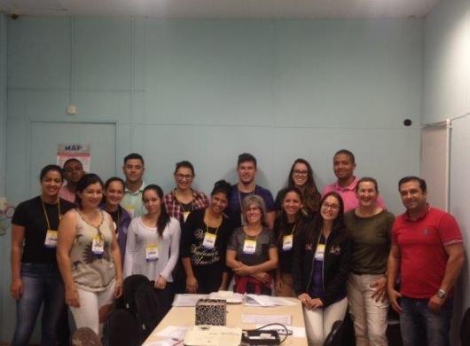 Participantes do treinamento sobre formação e desenvolvimento de líderes.