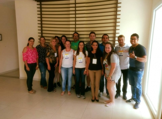 Foto da turma que participou do curso sobre desenvolvimento e formação de Líderes em Blumenau !