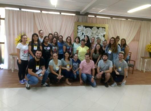 Foto da turma que participou do treinamento sobre etiquetagem têxtil na cidade de Brusque!