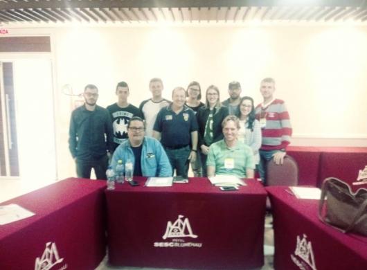 Foto da turma que participou do curso sobre P.P.C.P . em Blumenau !
